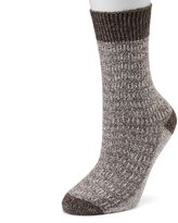 Cuddl Duds Women's Chevron Marled Crew Socks