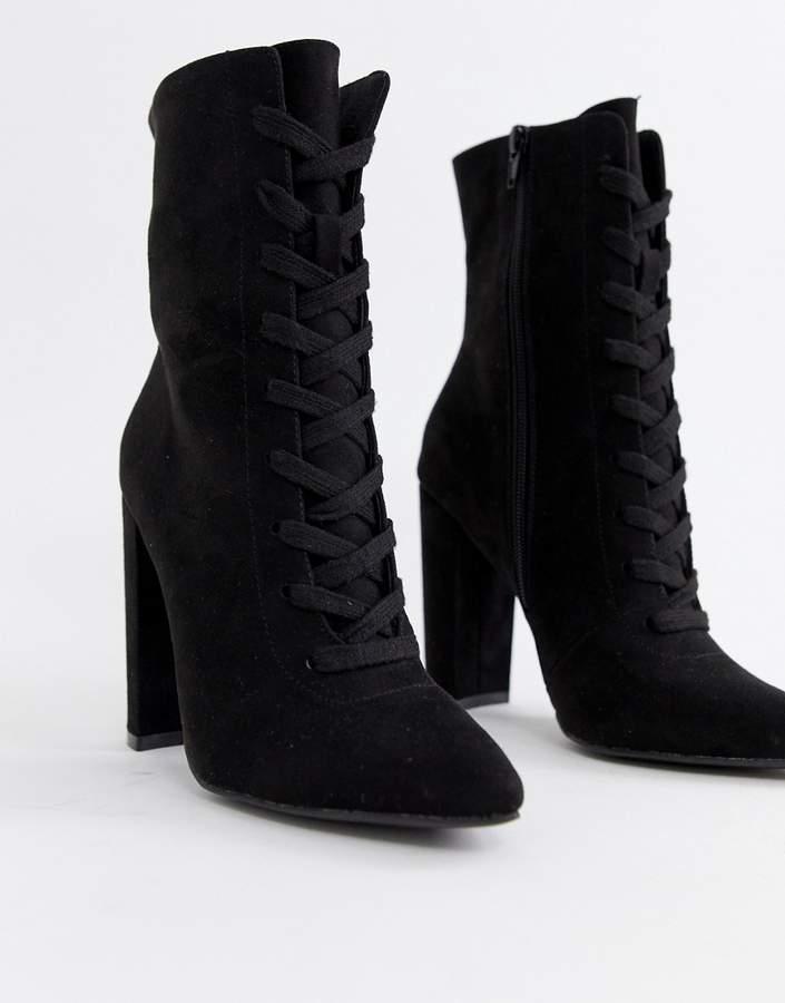 1d6d769ed Lace Up Heel Boots - ShopStyle