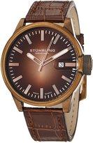 Stuhrling Original Men's 468.3345K14 Octane Concorso Classic Swiss Quartz Date Rose Tone Watch