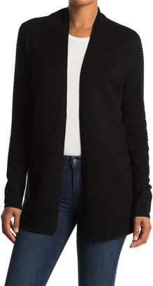 Devotion By Cyrus Ottoman Ribbed Open Cardigan