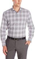 Perry Ellis Men's Long Sleeve Non-Iron Ombre Plaid Pattern Shirt