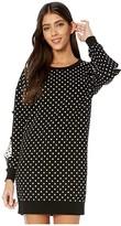 Moschino Polka Dot Knit Dress (Black Multi) Women's Clothing