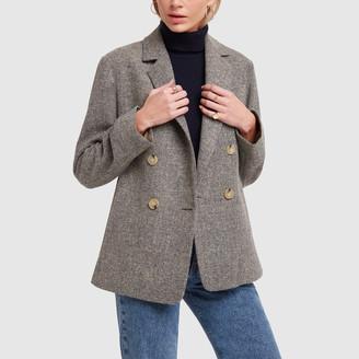 Vince Pebble Texture Wool Jacket - Small