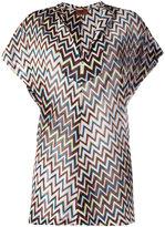 Missoni zig zag tunic - women - Polyester/Cupro/Viscose - 42