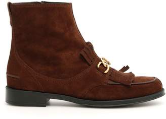 Tod's Tods Double T Boots With Fringe