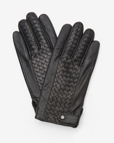 Ted Baker Panelled leather gloves