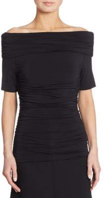 Akris Ruched Off-The-Shoulder Top