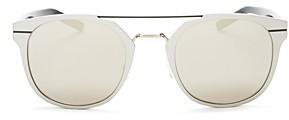 Christian Dior Men's Mirrored Mixed Media Sunglasses, 51mm