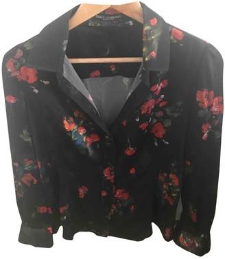 Dolce & Gabbana Black Silk Tops