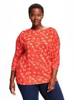 Old Navy Relaxed Plus-Size Scoop-Back Tee