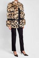 Roberto Cavalli Printed Fox Fur Coat