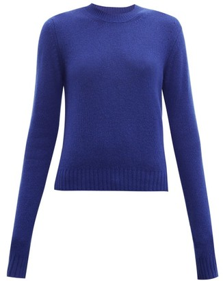 Bottega Veneta Exaggerated-sleeve Cashmere-blend Sweater - Blue