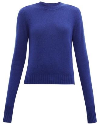 Bottega Veneta Exaggerated-sleeve Cashmere-blend Sweater - Womens - Blue