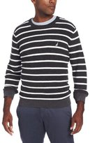 Nautica Men's Stripe Crew Neck Sweater