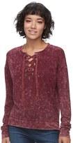 Mudd Juniors' Lace-Up Sweatshirt