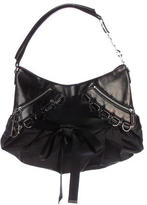 Christian Dior Leather-Trimmed Corset Bag