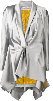 Poiret metallic draped blazer