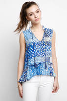 Plenty by Tracy Reese Indigo Tile Print Tank Top