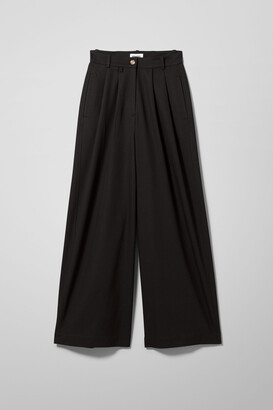 Weekday Angela Wide Trouser - Black