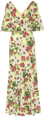 Dolce & Gabbana Floral stretch-silk maxi dress