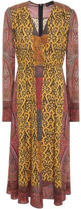 Etro Wrap-effect Printed Crepe De Chine Midi Dress