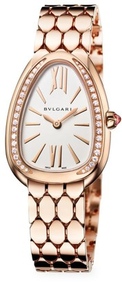 Bvlgari Serpenti Seduttori 18K Rose Gold & Diamond Bracelet Watch