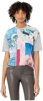 Paul Smith Kitty Print T-Shirt (Grey) Women's Clothing