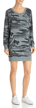 Splendid Courtside Camo Sweatshirt Dress