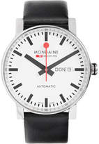Mondaine Evo Big Day-date Stainless Steel And Leather Watch - White