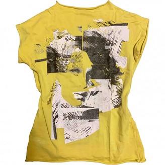 Patrizia Pepe Yellow Cotton Top for Women