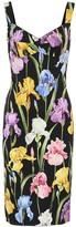 Dolce & Gabbana Floral stretch silk-blend dress