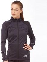 Skechers Womens Leia Marl Performance Training Jacket Black
