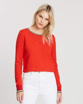 Maison Scotch Basic Pullover Sweater with Special Rib