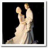 3dRose LLC ht_76119_3 Danita Delimont - Weddings - Dominican Republic, Bavaro, Wedding cake topper-CA14 JEN0178 - Jim Engelbrecht - Iron on Heat Transfers - 10x10 Iron on Heat Transfer for White Material