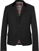 Haider Ackermann - Slim-fit Velvet-trimmed Wool Blazer