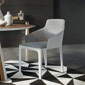 Modloft Black Oxford Dining Chair Black Finish: Gray Denim / Bright White