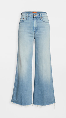 Mother Sunburst Roller Unfinished Ankle Jeans