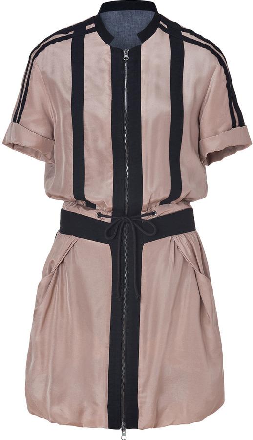 See by Chloe Sand/Black Silk Dress