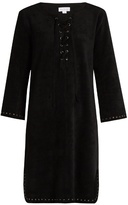 Velvet by Graham & Spencer Raleigh lace-up faux-suede dress