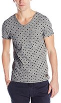 Scotch & Soda Men's V-Neck Tee with Chest Pocket Detail