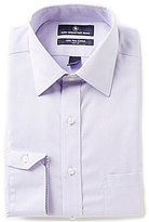 Hart Schaffner Marx Non-Iron Fitted Classic-Fit Spread-Collar Diamond Dobby Dress Shirt