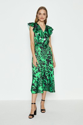 Coast Midi Ruffle Wrap Dress