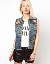 Kill City Patched Denim Gilet