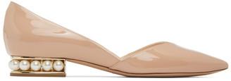Nicholas Kirkwood Beige Patent Casati DOrsay Ballerina Flats
