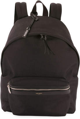 Saint Laurent Men's City Canvas Backpack