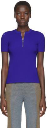 Helmut Lang Blue Essential Zip Sweater