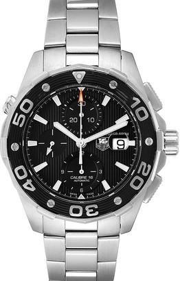 Tag Heuer Black Stainless Steel Aquaracer CAJ2110 Men's Wristwatch 44 MM