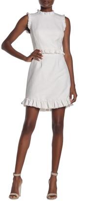 Rebecca Taylor Ruffled Sleeveless Sheath Dress