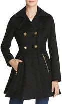 Laundry by Shelli Segal Fit and Flare Double-Breasted Coat