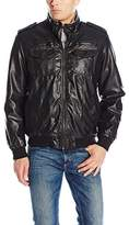 Levi's Men's Vintage Deer Touch Faux Leather Sherpa Lined Aviator Bomber